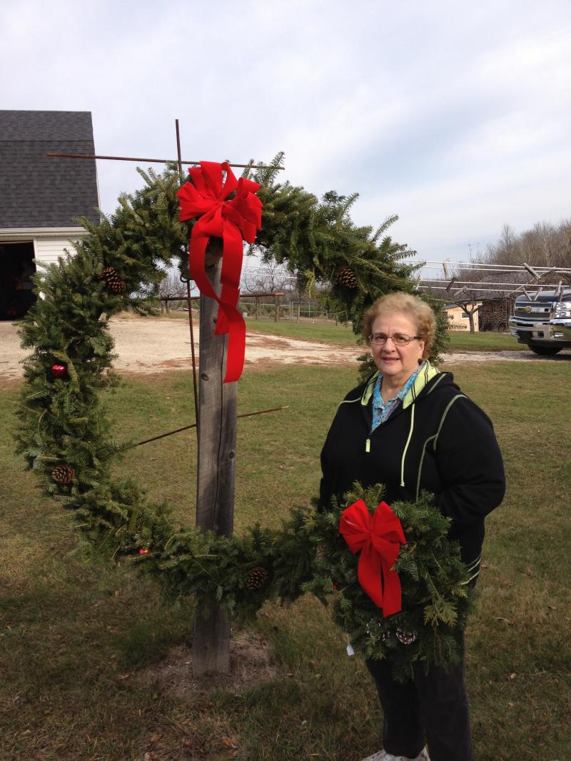 "The big and small of it! - We make wreaths from 16"" to 62""."